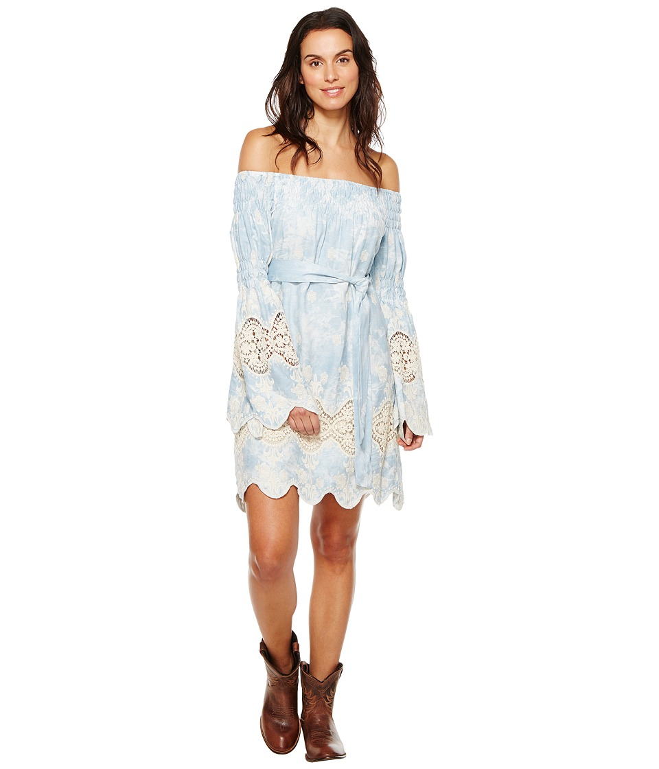 Union of Angels - Tania Dress (Sky Blue/White/Lace) Women's Dress