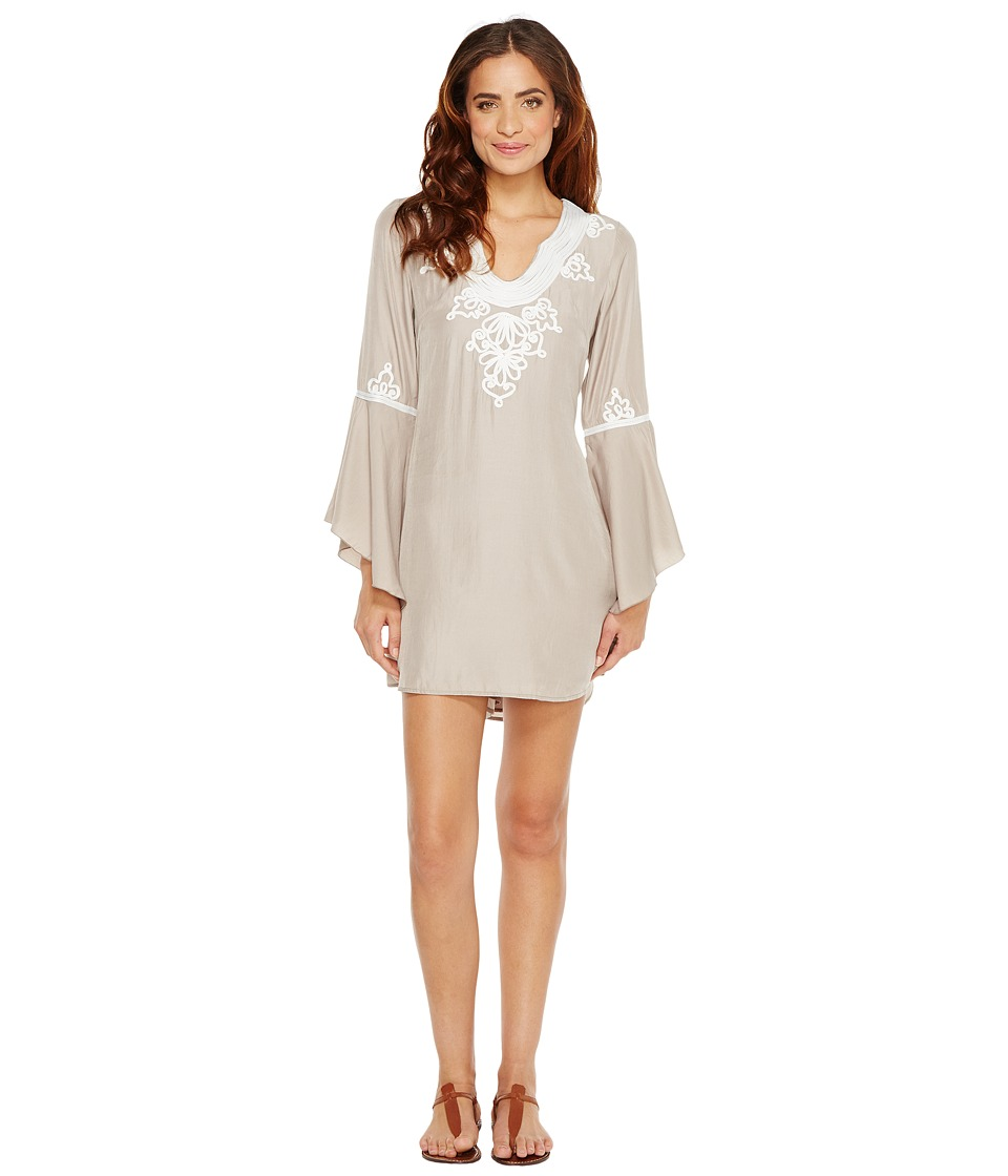 Union of Angels - Cecily Dress (Khaki/White Embroidery) Women's Dress