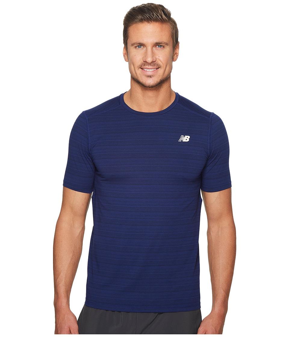 New Balance - Fantom Force Short Sleeve Top (Pigment/Tempest) Men's Clothing