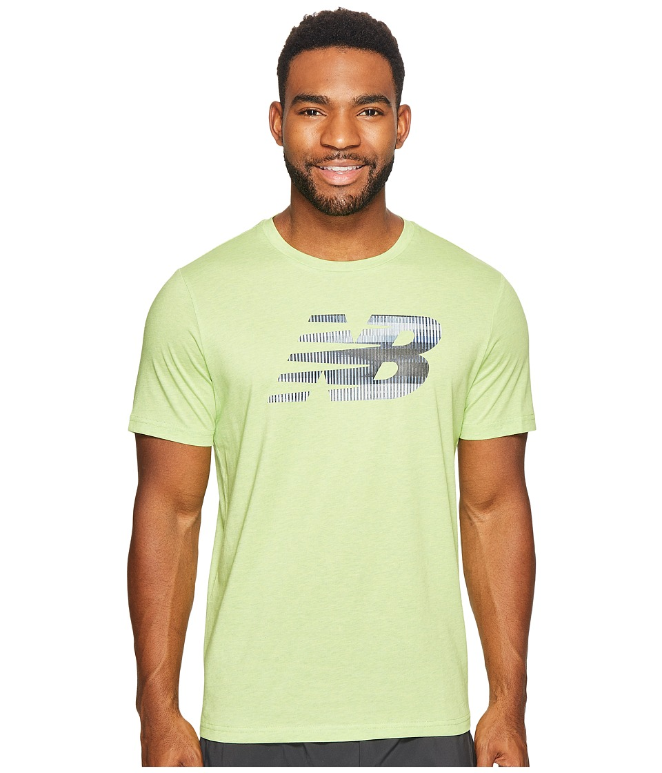 New Balance Heather Tech Short Sleeve NB Graphic (Energy Lime) Men