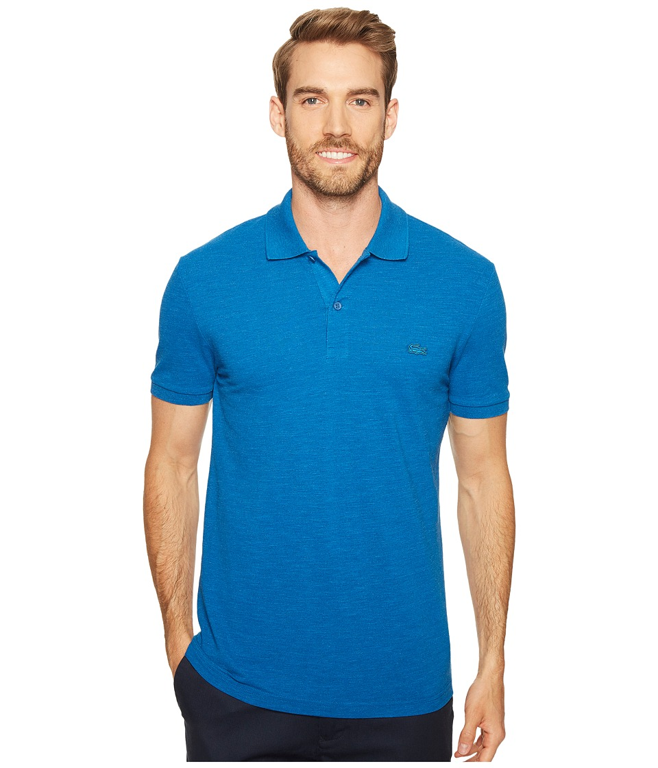 Lacoste - Short Sleeve Garment Dyed Vintage Polo Slim (Sapphire Blue Dyed) Men's Short Sleeve Pullover