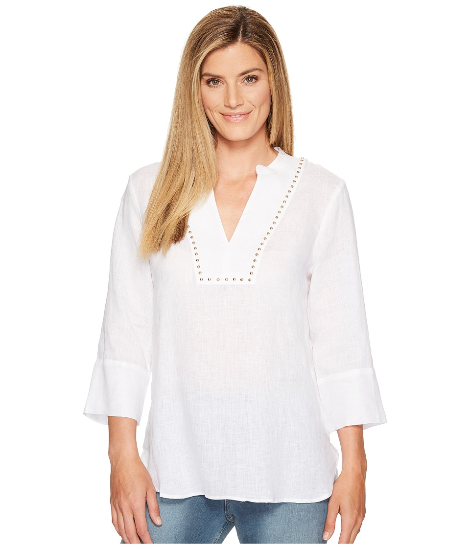 Ivanka Trump - Tunic Top with Hardware Detail (Ivory) Women's Blouse