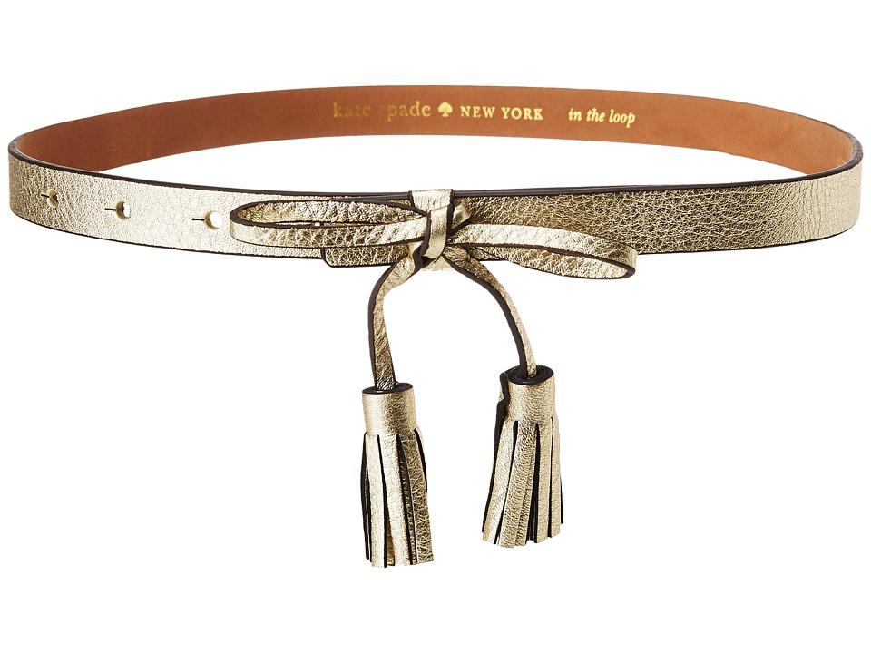 Kate Spade New York - 5/8 Bow Belt (Gold) Women's Belts