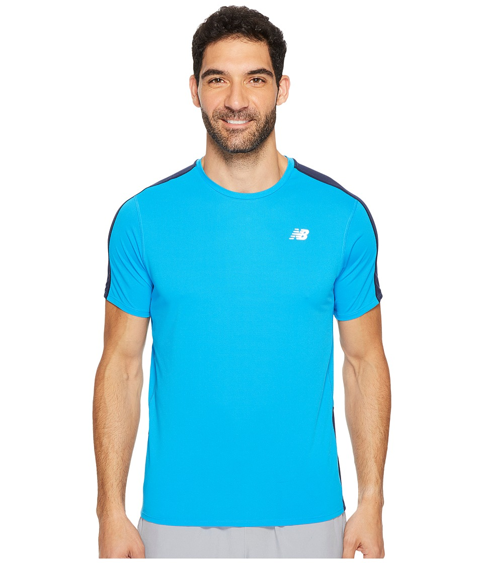 New Balance - Accelerate Short Sleeve (Bolt/Pigment) Men's Short Sleeve Pullover