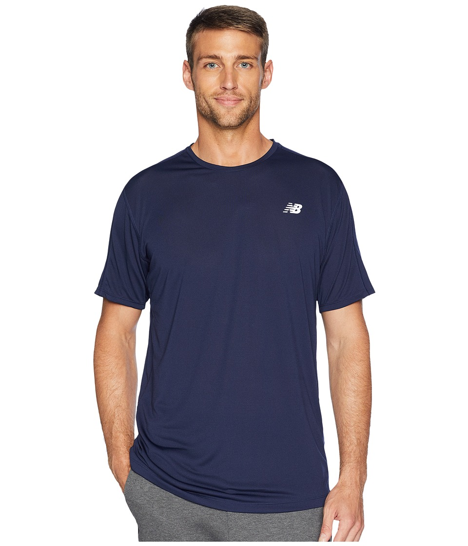 New Balance - Accelerate Short Sleeve (Pigment) Men's Short Sleeve Pullover