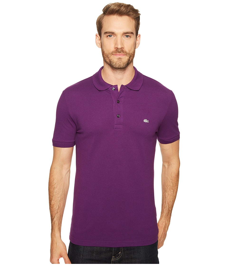 Lacoste - Stretch Petit Pique Slim Fit Polo (Cossak Purple) Men's Short Sleeve Pullover