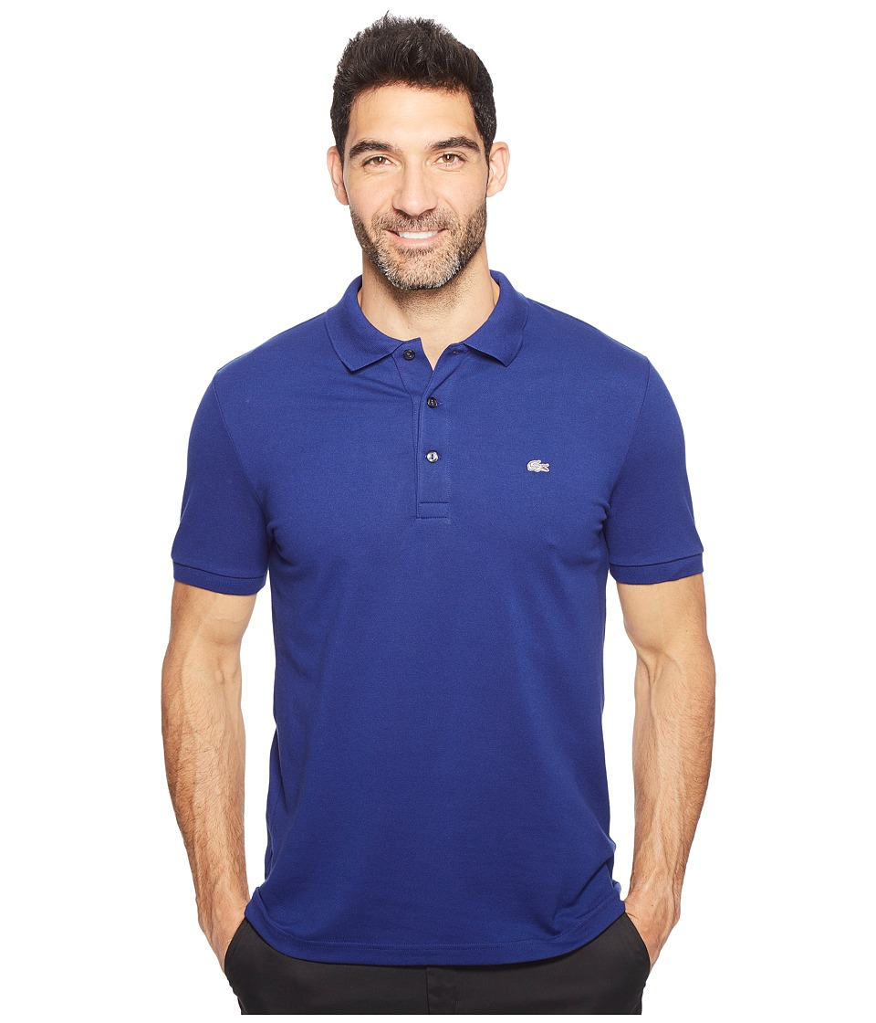 Lacoste - Stretch Petit Pique Slim Fit Polo (Ocean) Men's Short Sleeve Pullover