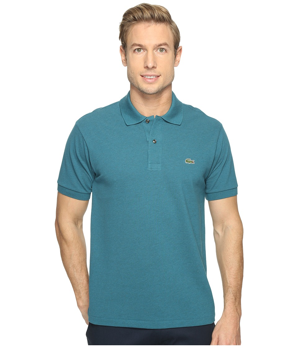 Lacoste - Short Sleeve Original Heathered Pique Polo (Chine Vine) Men's Clothing