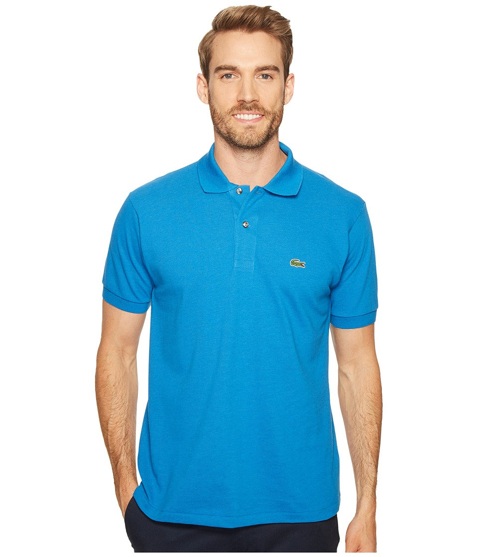 Lacoste - Short Sleeve Original Heathered Pique Polo (Saphir Chine) Men's Clothing