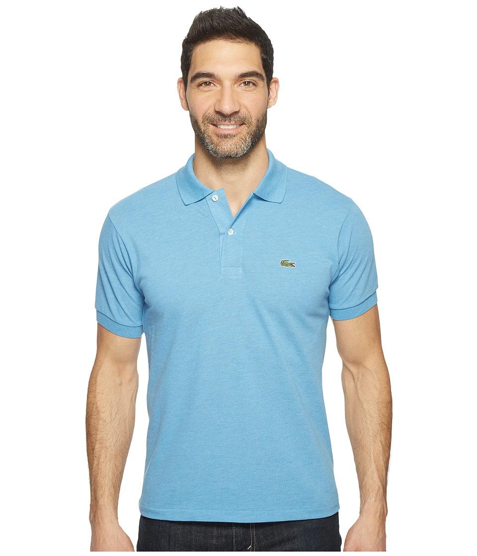 Lacoste - Short Sleeve Original Heathered Pique Polo (Horizon Blue Chine) Men's Clothing