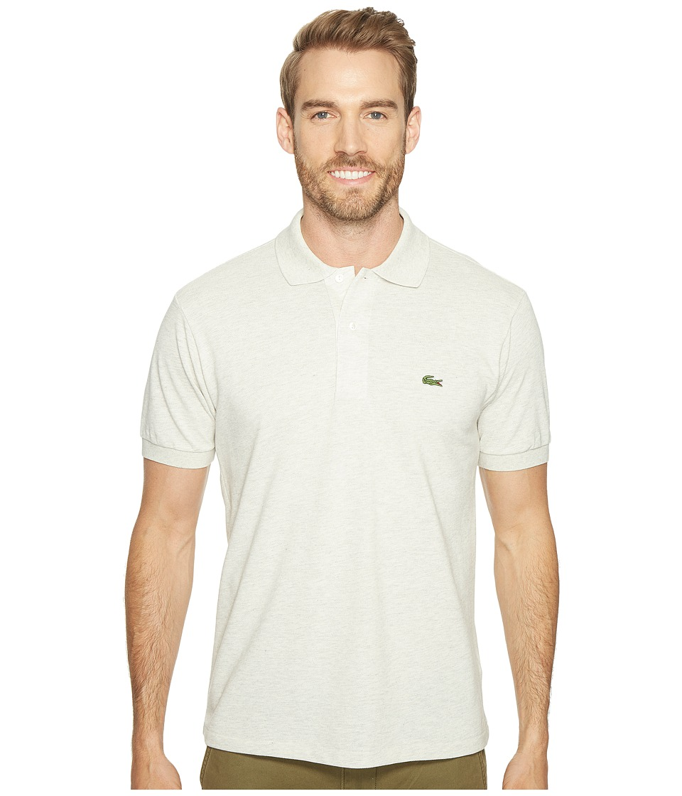 Lacoste - Short Sleeve Original Heathered Pique Polo (Alpes Grey Chine) Men's Clothing