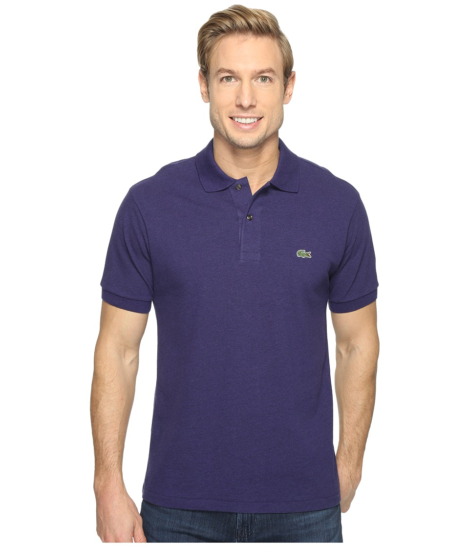 Lacoste - Short Sleeve Original Heathered Pique Polo (Chine Sloe) Men's Clothing