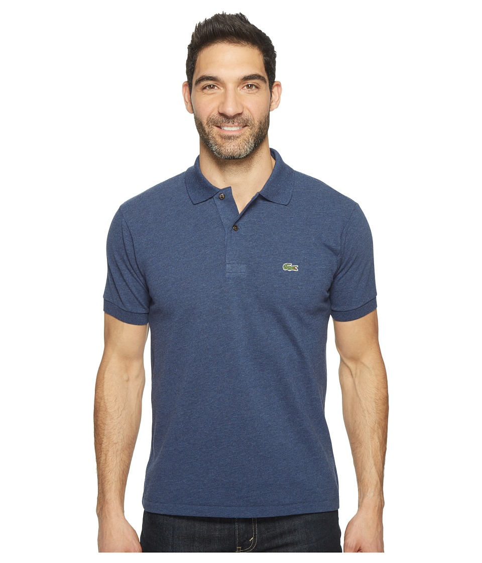 Lacoste - Short Sleeve Original Heathered Pique Polo (Philippines Blue Chine) Men's Clothing