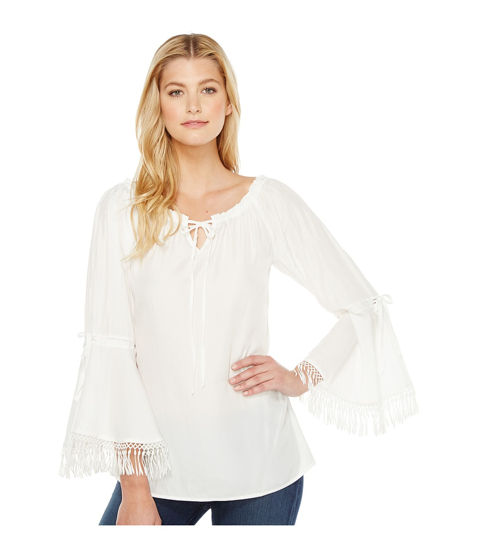 Union of Angels - Silvia Top (White) Women's Clothing