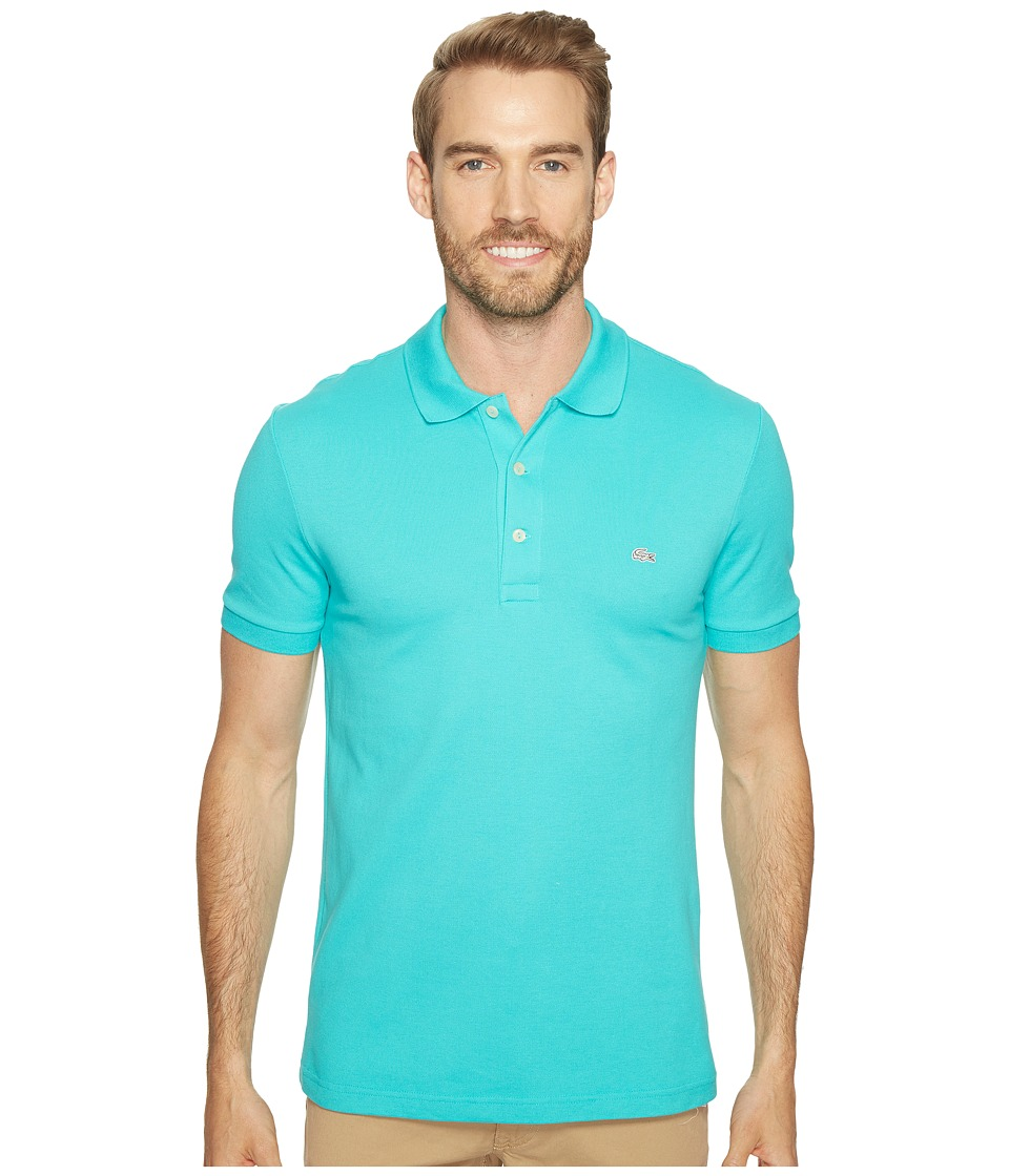 Lacoste - Stretch Petit Pique Slim Fit Polo (Bermuda 08H) Men's Short Sleeve Pullover