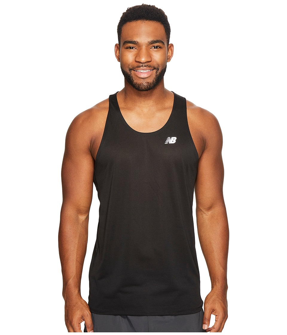 New Balance - Accelerate Singlet (Black) Men's Sleeveless