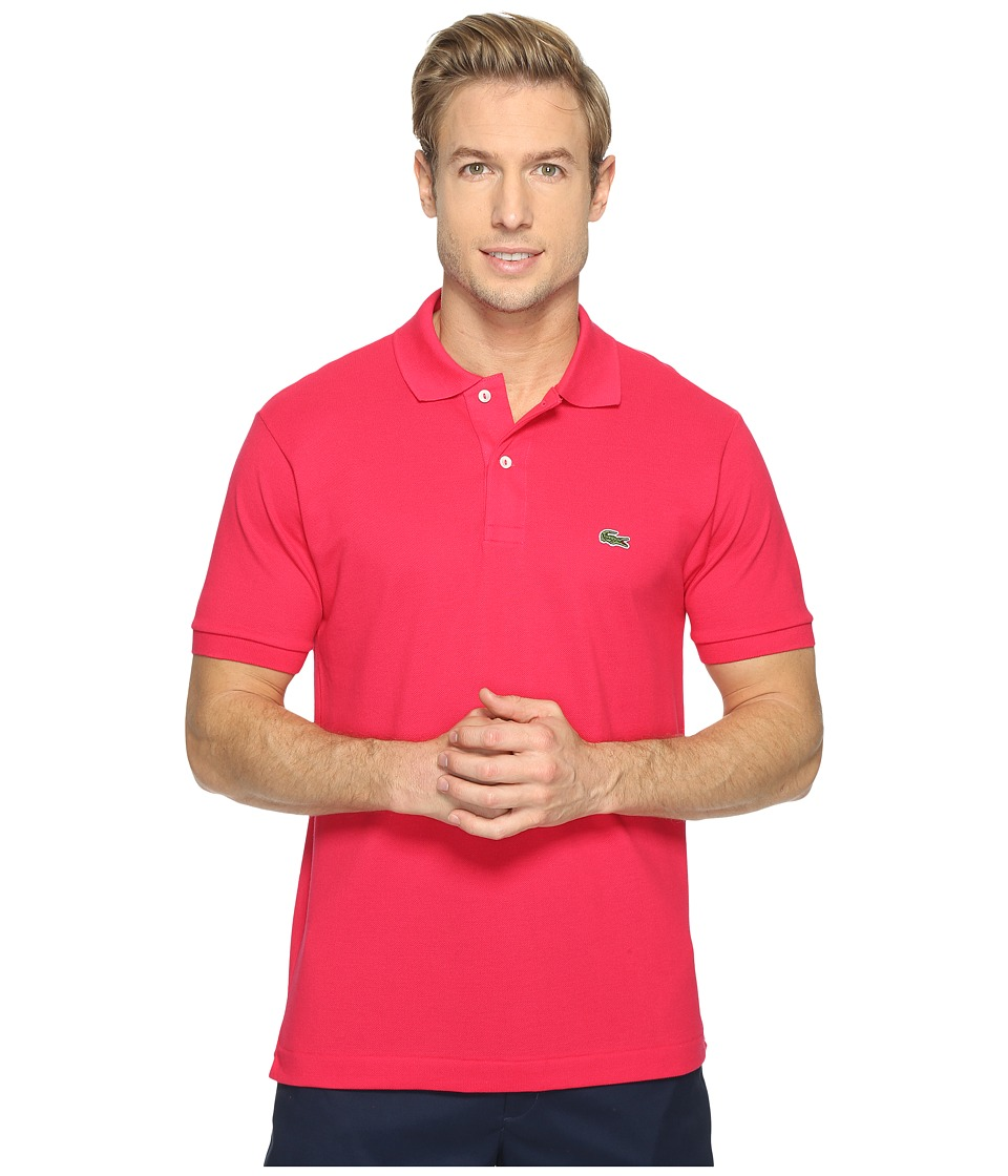 Lacoste - L1212 Classic Pique Polo Shirt (Sirop Pink) Men's Short Sleeve Knit