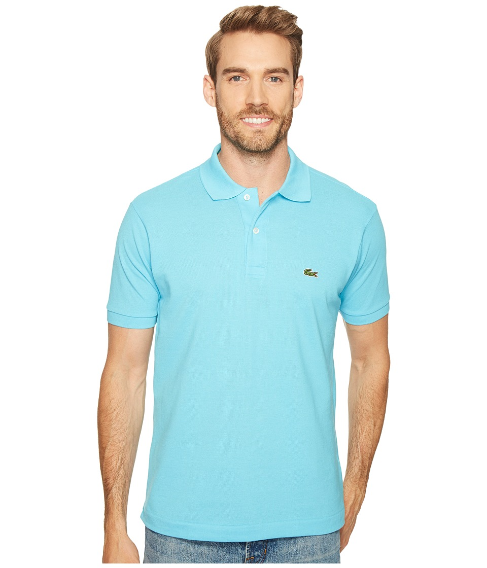 Lacoste - L1212 Classic Pique Polo Shirt (Blue Marquise) Men's Short Sleeve Knit