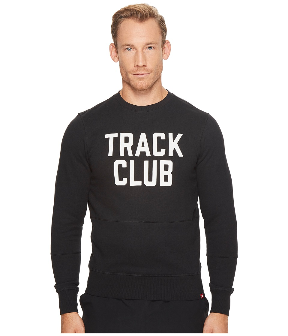 New Balance - Essentials TC Crew (Black) Men's Clothing