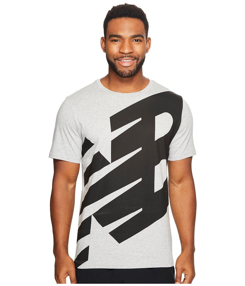 New Balance - Essentials Logo Tee (Athletic Grey) Men's Clothing