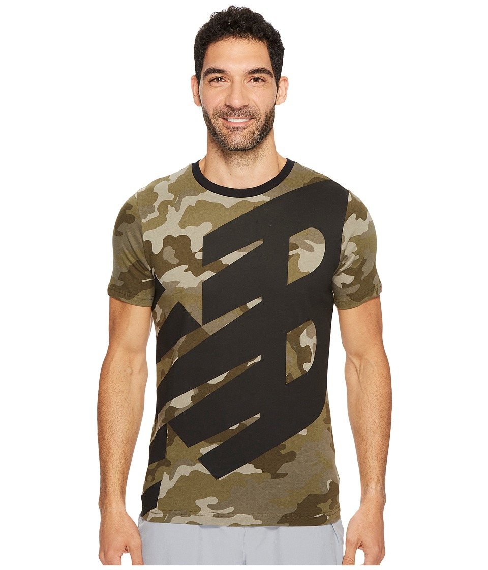 New Balance - Essentials Logo Tee (Universal Camo Print) Men's Clothing
