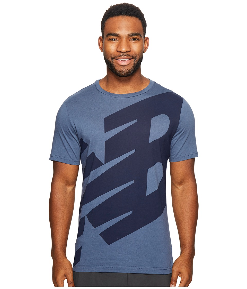 New Balance - Essentials Logo Tee (Vintage Indigo) Men's Clothing