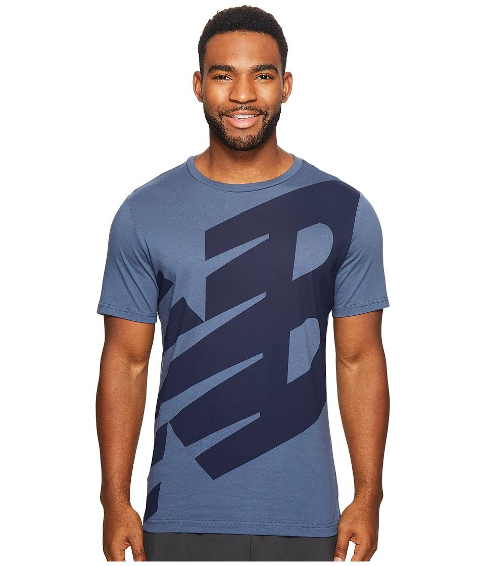 New Balance - Essentials Logo Tee (Vintage Indigo) Men's Clothing
