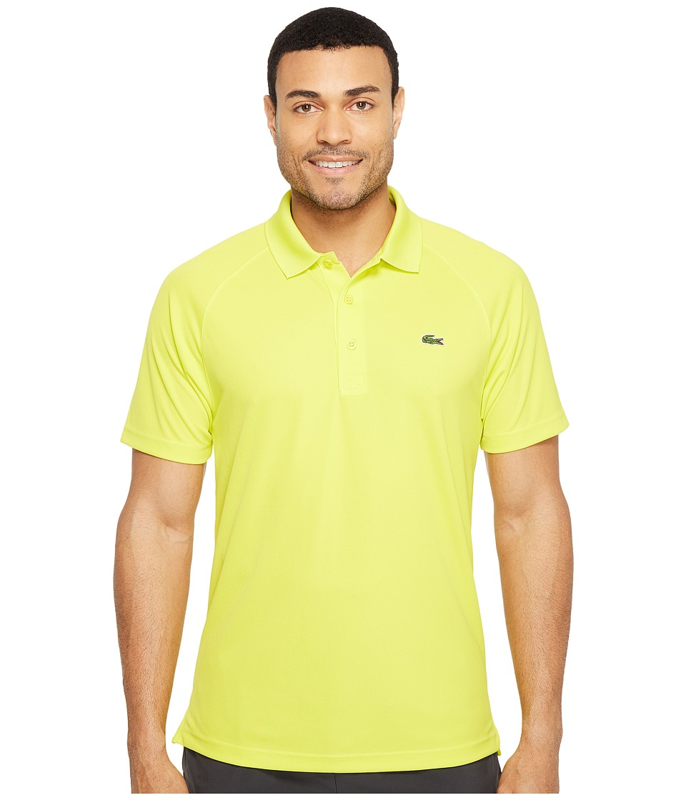 Lacoste - Sport Short Sleeve Ultra Dry Raglan Sleeve Polo (Lemon Tree) Men's Short Sleeve Pullover