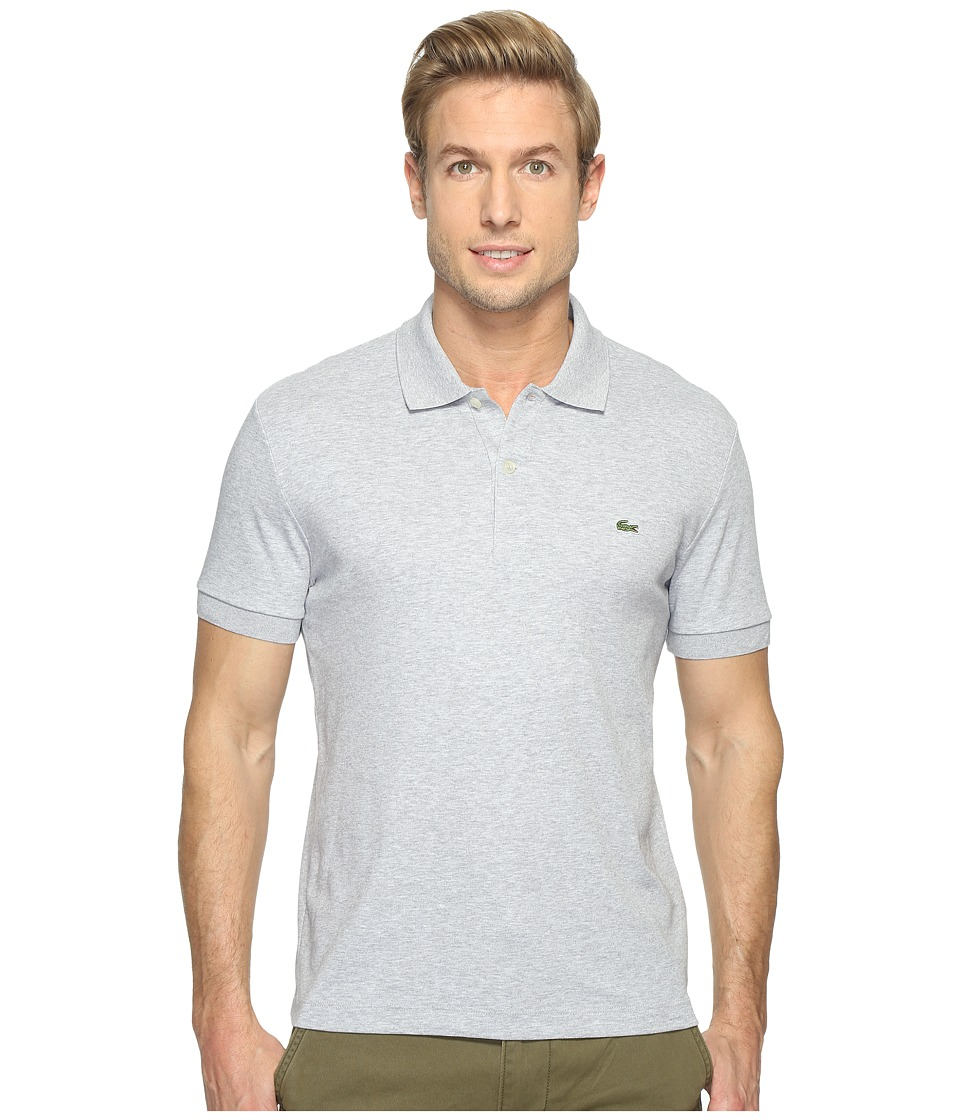Lacoste - Short Sleeve Jersey Interlock Regular (Silver Chine) Men's Clothing