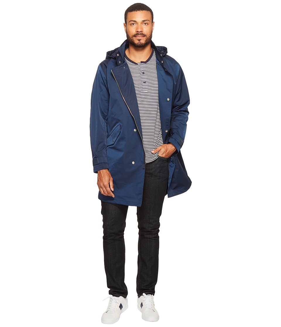 Lacoste - Taffeta Parka (Navy Blue) Men's Coat