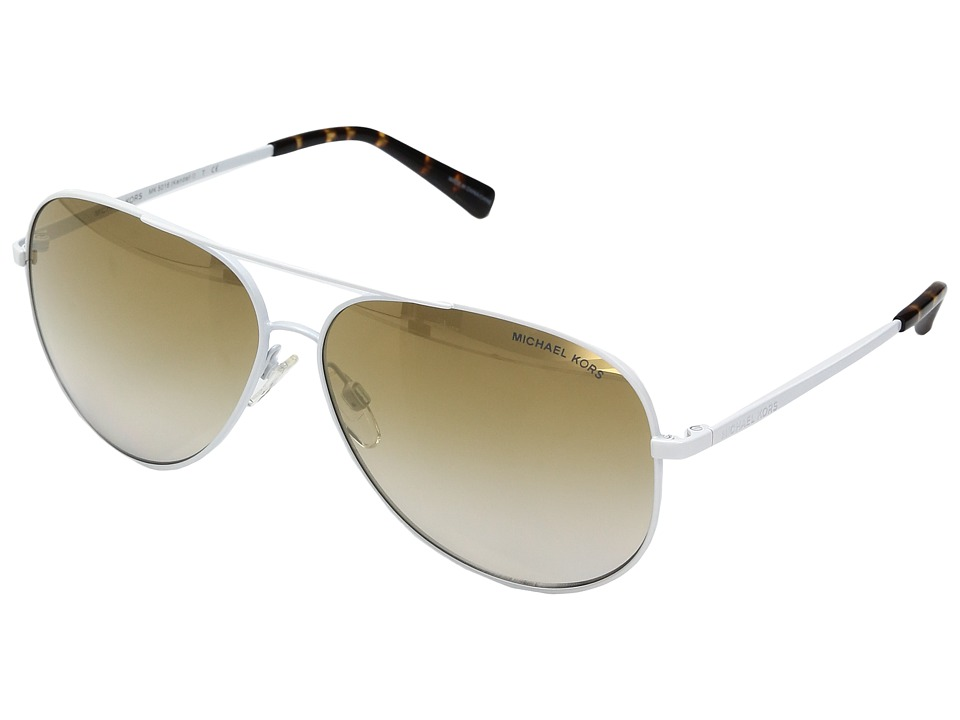 Michael Kors - Kendall MK5016 60mm (White/Clear Gradient/Light Brown Mirror/Gold) Fashion Sunglasses