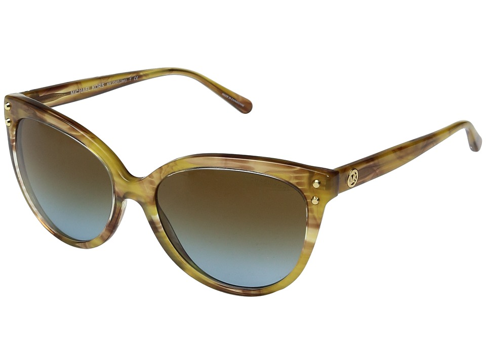 Michael Kors - Jan MK2045 55mm (Yellow Floral/Amber Blue Gradient) Fashion Sunglasses