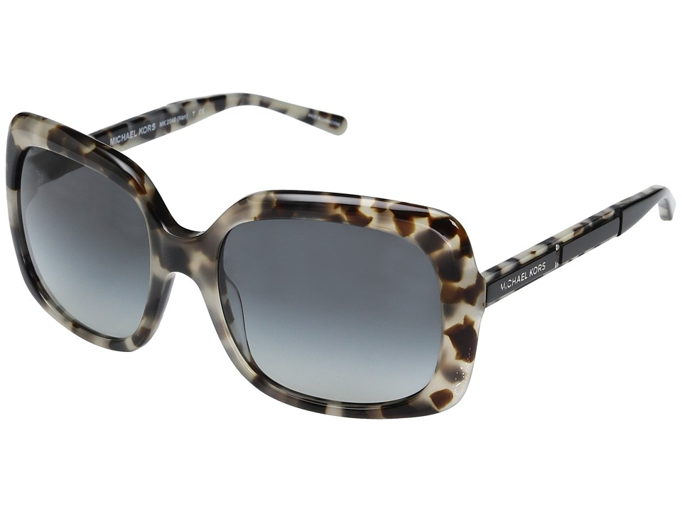 Michael Kors - Nan MK2049 55mm (Milky Tortoise/Grey Gradient) Fashion Sunglasses