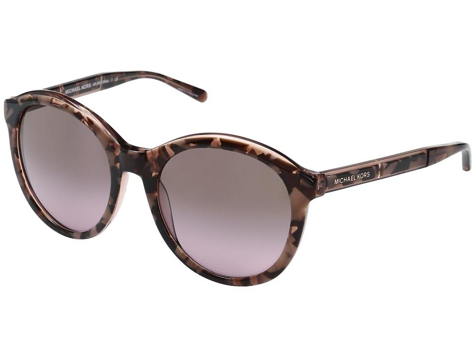 Michael Kors - Mae MK2048 54mm (Pink Tortoise Graphic/Brown/Rose Gradient) Fashion Sunglasses