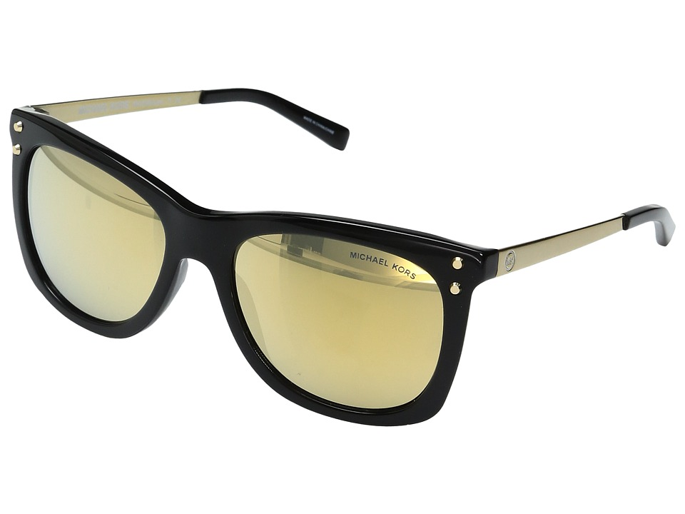 Michael Kors - Lex MK2046 54mm (Black/Liquid Gold) Fashion Sunglasses