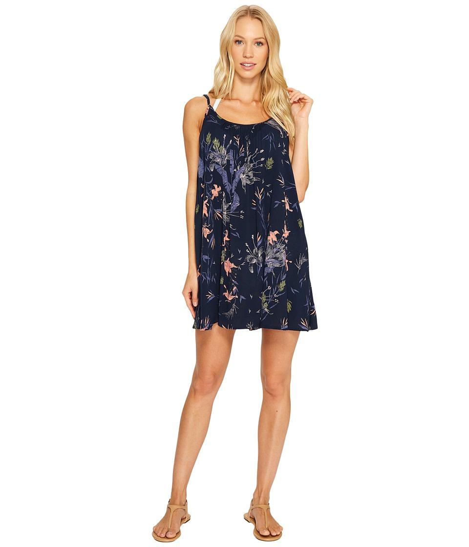 Roxy Windy Fly Away Print Dress Cover-Up (Dress Blues Swim Lee Lee) Women