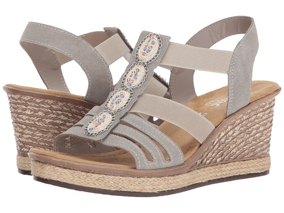 Rieker - 67508 Rabea 08 (Nebel) Women's Shoes