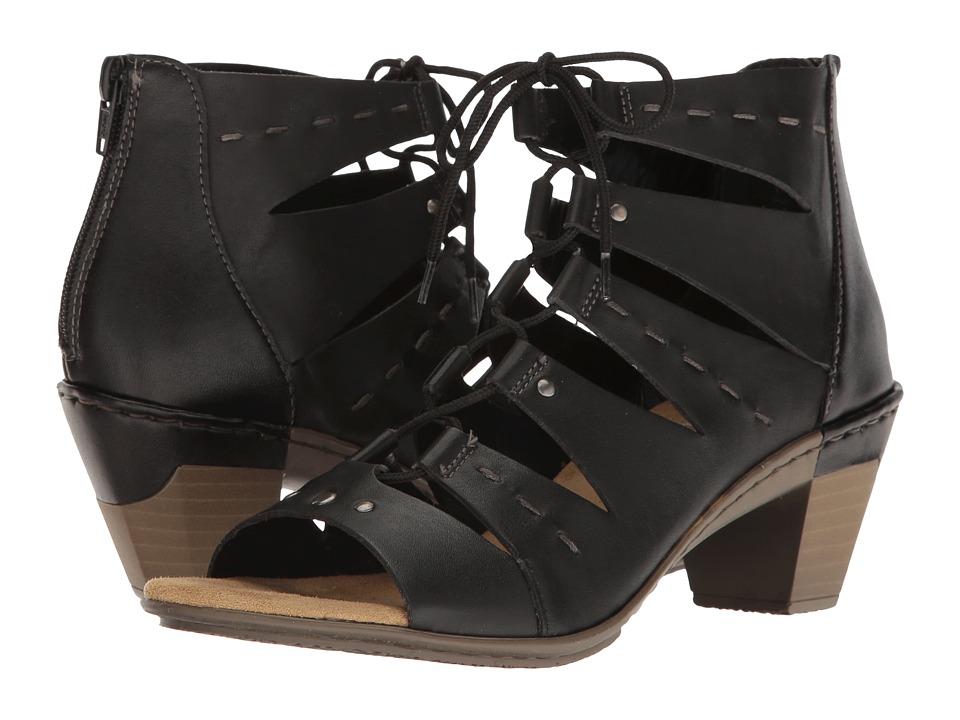 Rieker - 67399 Aileen 99 (Black/Black) Women's Shoes