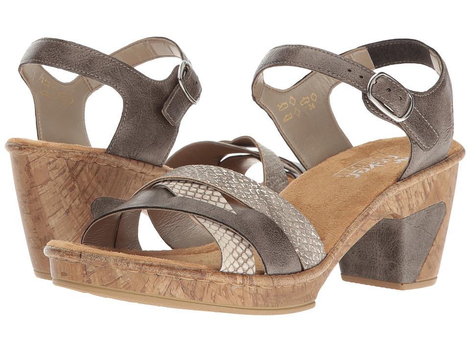 Rieker - 69739 Roberta 39 (Smoke/Kiesel/Fango Silver) Women's Shoes