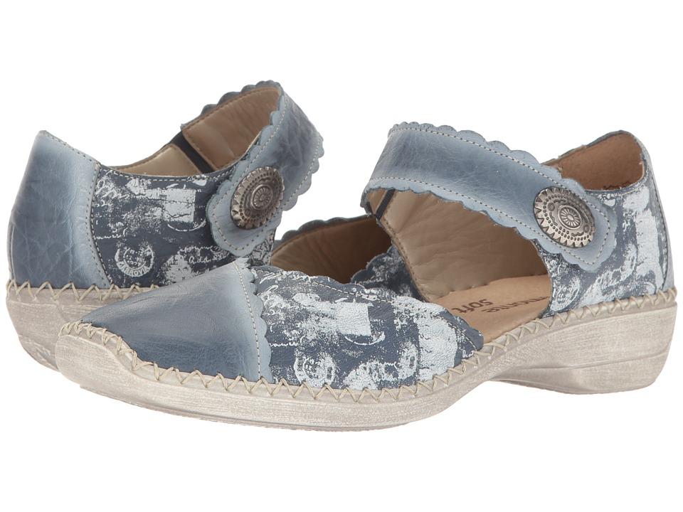 Rieker - D1649 Doris 49 (Azur/Hellgrau) Women's Shoes