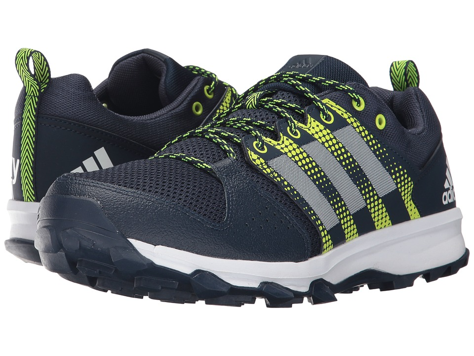 adidas - Galaxy Trail (Navy/White/Solar Yellow) Men's Running Shoes