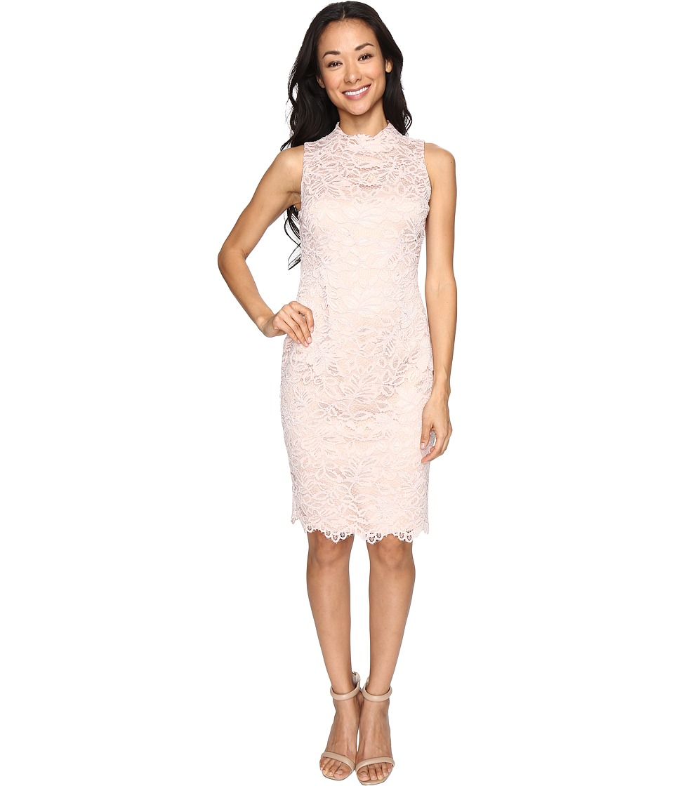 Vince Camuto - Lace High Neck Bodycon Dress (Blush) Women's Dress