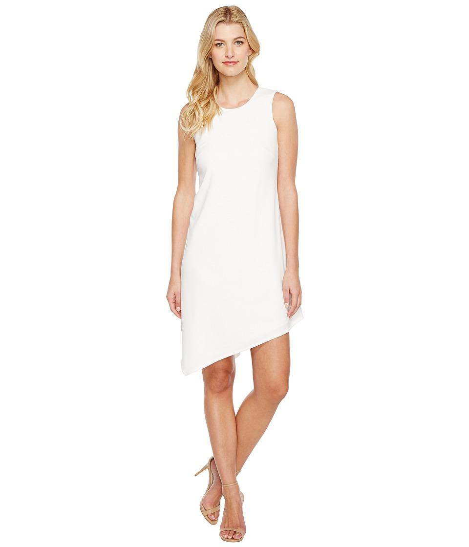 Calvin Klein A-Line Dress with Asymmetrical Hem (White) Women