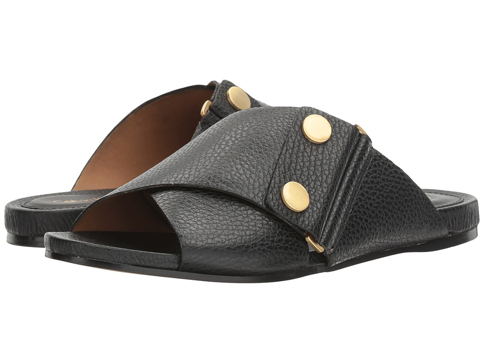 Calvin Klein - Pamice (Black Leather) Women's Shoes