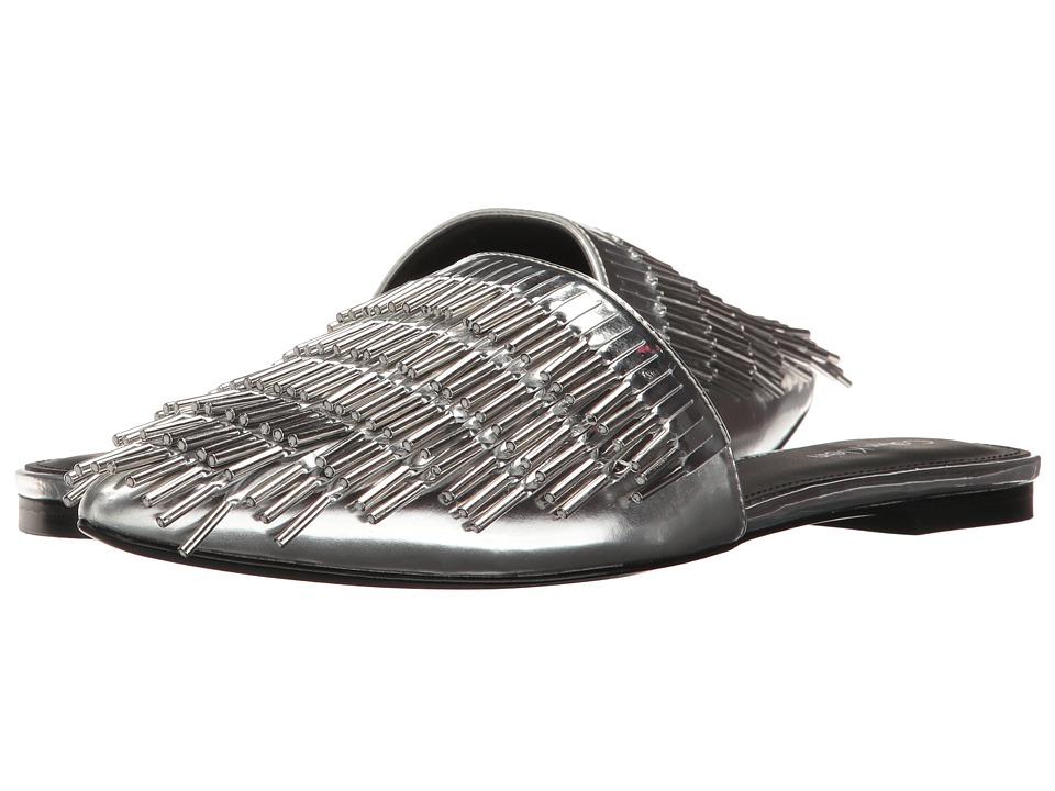 Calvin Klein - Addie (Silver Metallic Box Leather) High Heels
