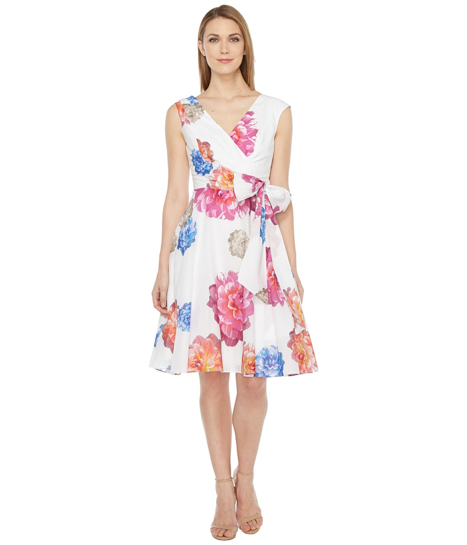 Calvin Klein - Floral Printed Cotton Voil Dress (Watermelon) Women's Dress
