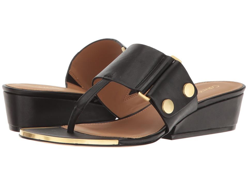 Calvin Klein - Carlie (Black Leather) Women's Shoes