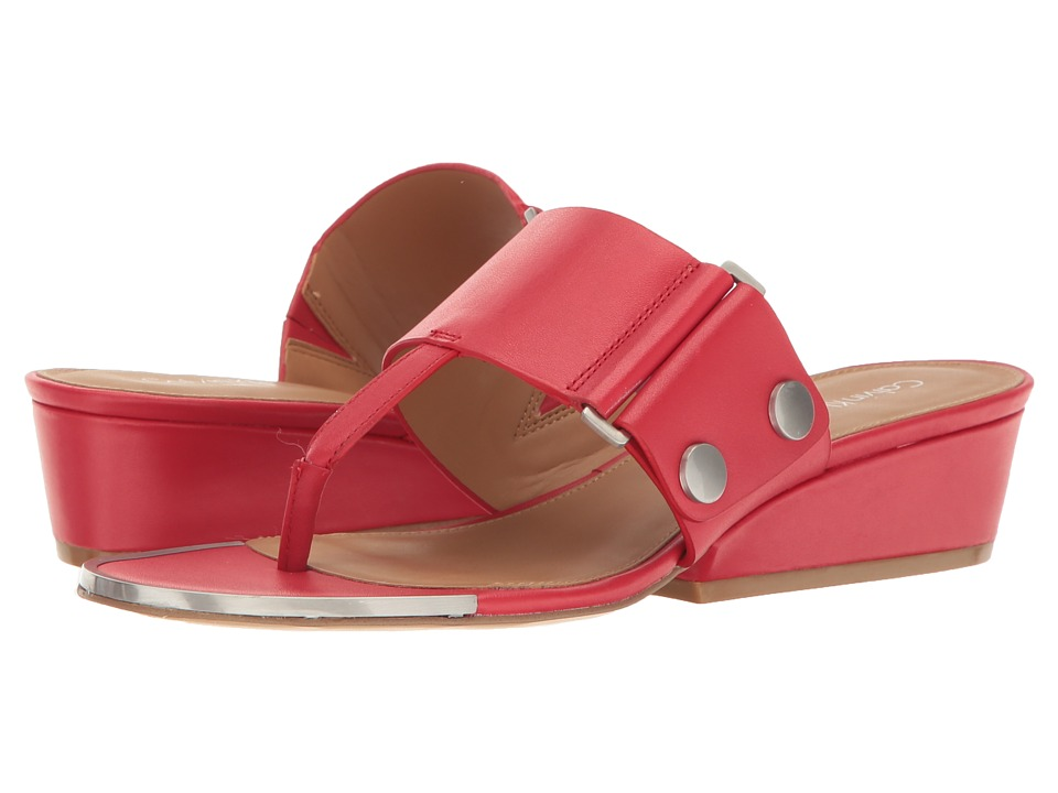 Calvin Klein - Carlie (Lipstick Red Leather) Women's Shoes