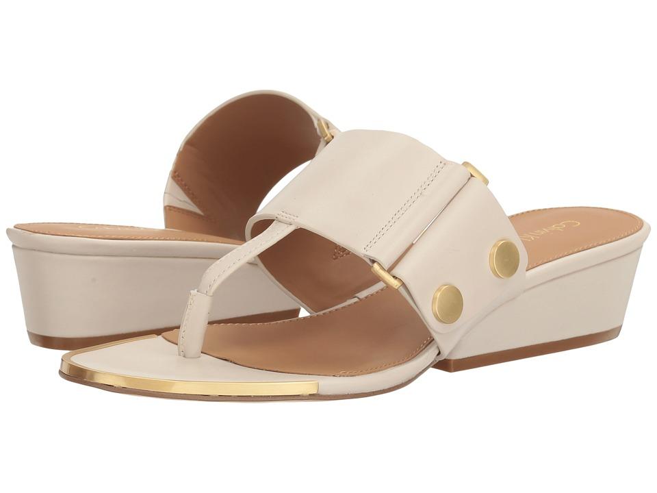 Calvin Klein Carlie (Soft White Leather) Women