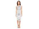 Adrianna Papell - Cap Sleeve Flower Beaded Dress